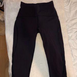 Lululemon cropped dark purple leggings